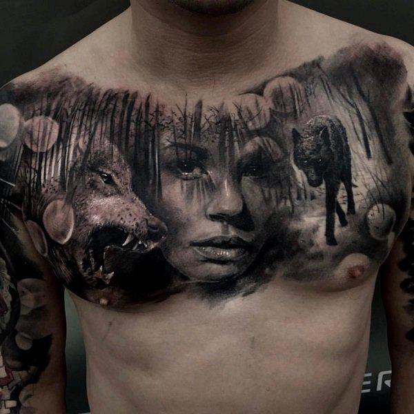 100 Nice Chest Tattoo Ideas Cuded