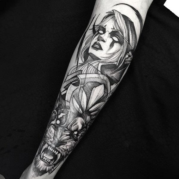 world of warcraft full sleeve tattoo