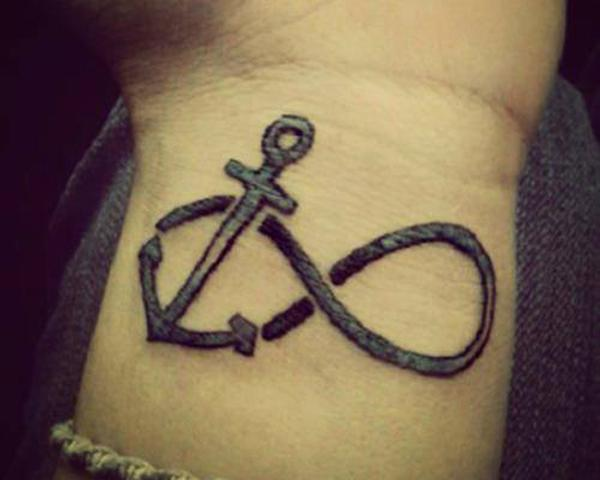 67b5b5909ba85 anchor infinity tattoo - 45 Infinity Tattoo Ideas <3 <3 ...