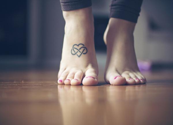 10 Infinity Heart Tattoo on footInfinity Heart Tattoo On Foot