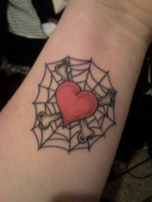 heart web tattoo on wrist - 50 Eye-Catching Wrist Tattoo Ideas <3 <3