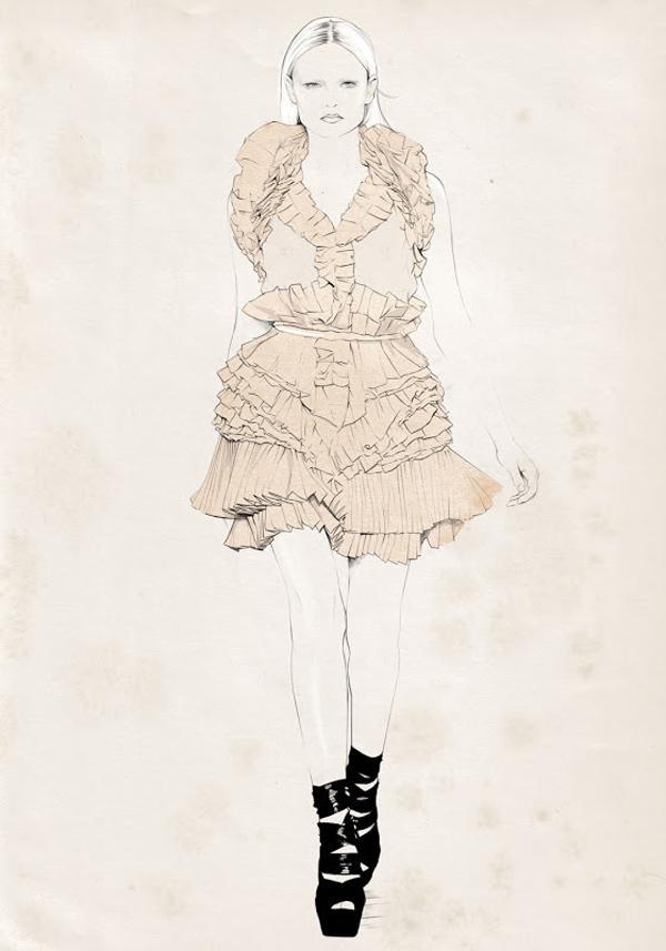 50 Amazing Fashion Sketches Cuded