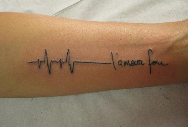Tattoo ECG Tatuagem Lamour Fou