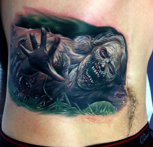 9573c8d83 Zombie Tattoo - 35 Horrible Zombie Tattoos <3 <3 ...