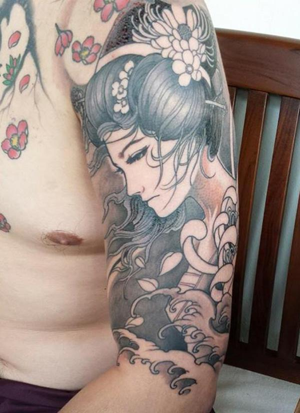 55 awesome japanese tattoo designs art and design - Stijl asiatique ...