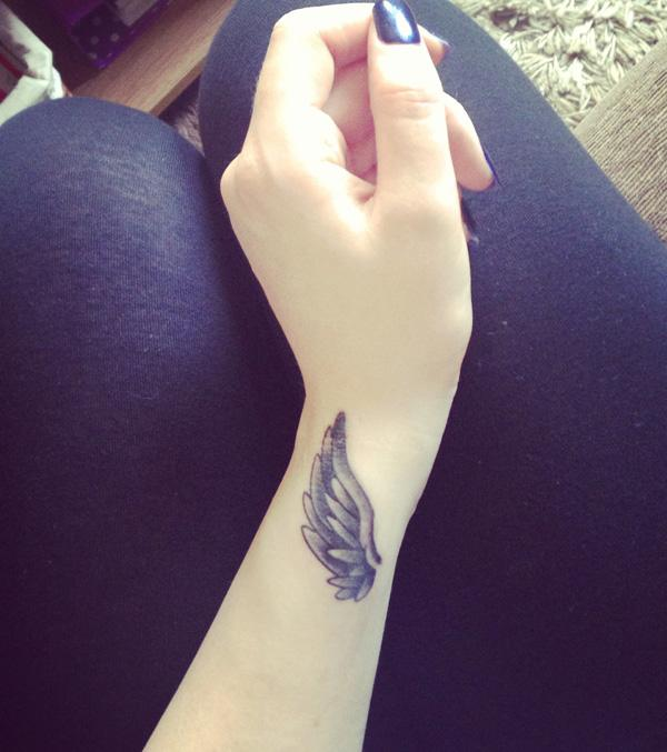Angel Wing Tattoo on wrist - 50 Eye-Catching Wrist Tattoo Ideas <3 <3