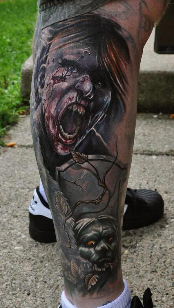78cb8c4d2 3D Zombie tattoo - 35 Horrible Zombie Tattoos <3 <3 ...