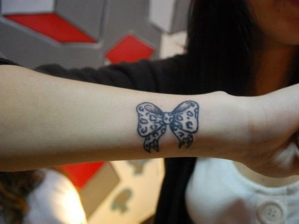 93309322c Black bow on wrist - 50 Eye-Catching Wrist Tattoo Ideas <3 <3 ...