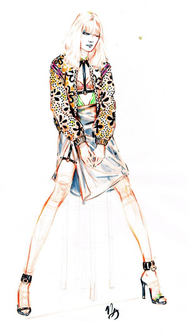 Fashion Illustration using color pencils  How to Sketch A