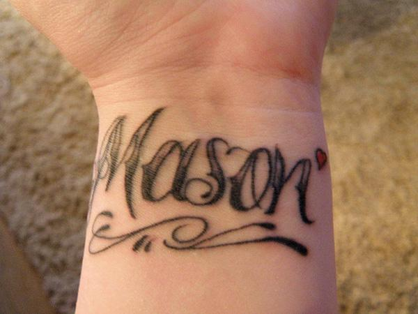 Name Wrist Tattoo Mason