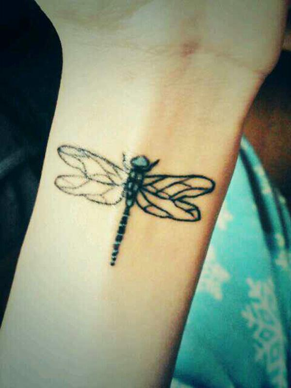 Dragonfly Tattoo On Wrist