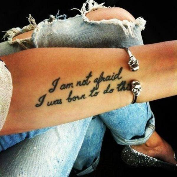 70 + Inspirational Tattoo Quotes | Art and Design