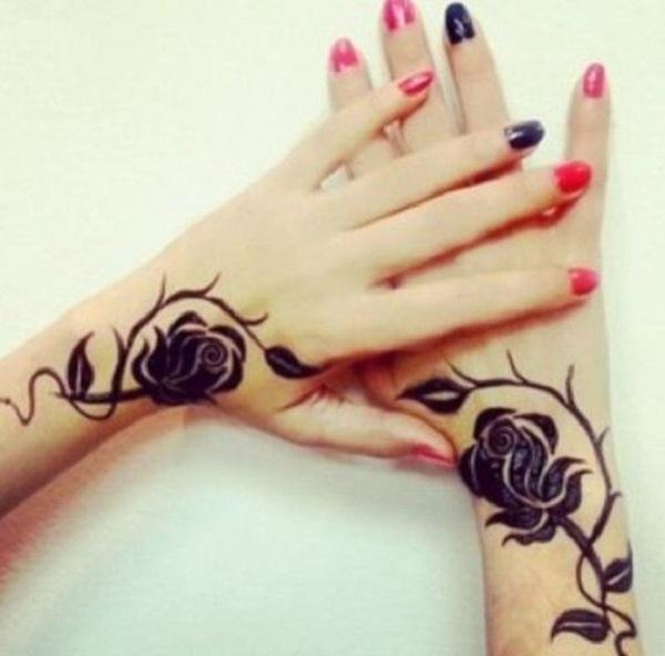 Pretty Henna Inspired Wrist Tattoo