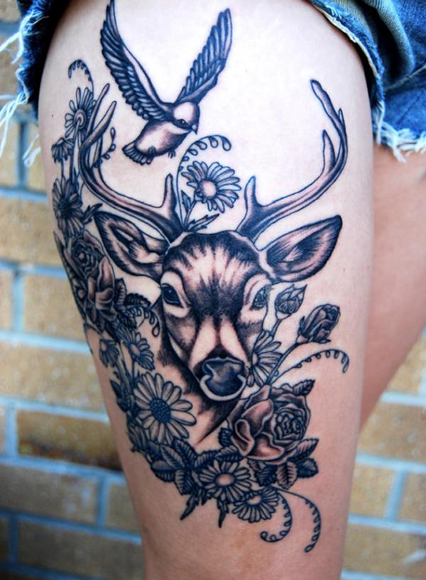 Thigh tattoo - 55 Thigh Tattoo Ideas <3 <3