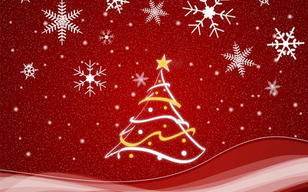17 red christmas snowing wallpaper600 375