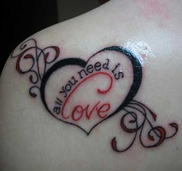 35 Inspiring Love Tattoo Ideas Cuded