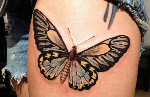 Butterfly Tattoo Inner Thigh Butterfly Tattoo on Thigh