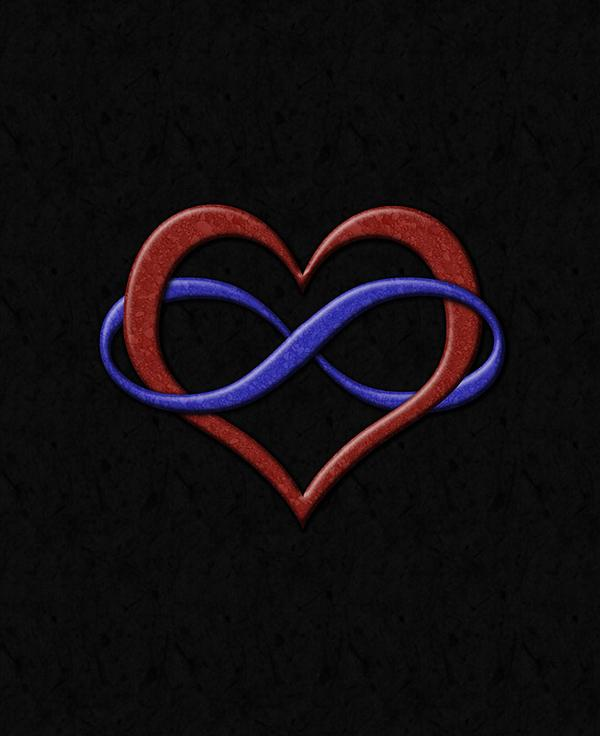 Image Gallery heart infinity symbol