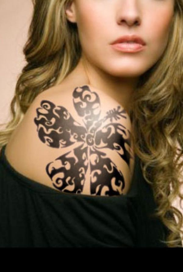 Tribal Shoulder Tattoos For Women