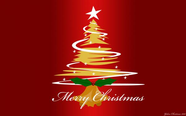 Red Christmas Tree Wallpaper