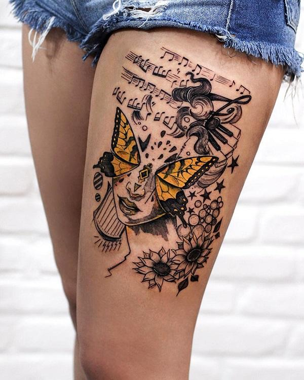 60 Thigh Tattoo Ideas