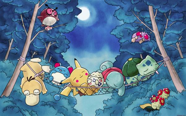 Under the moon Wallpaper - 50 Lovely Pokemon Wallpapers ...