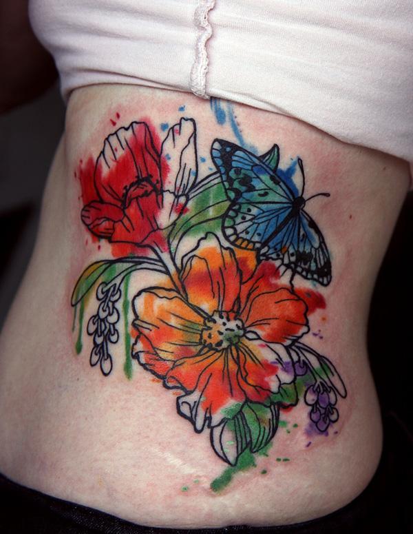 0ceca30b68b2f watercolor flower tattoo. Amazing Watercolor Tattoo - 65+ Examples of Watercolor  Tattoo <3 ...