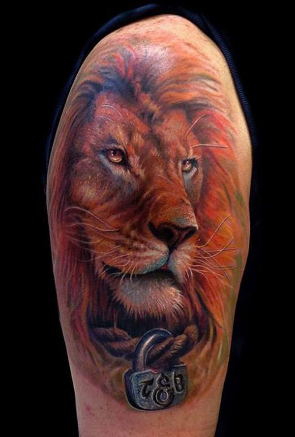 lion art tribal