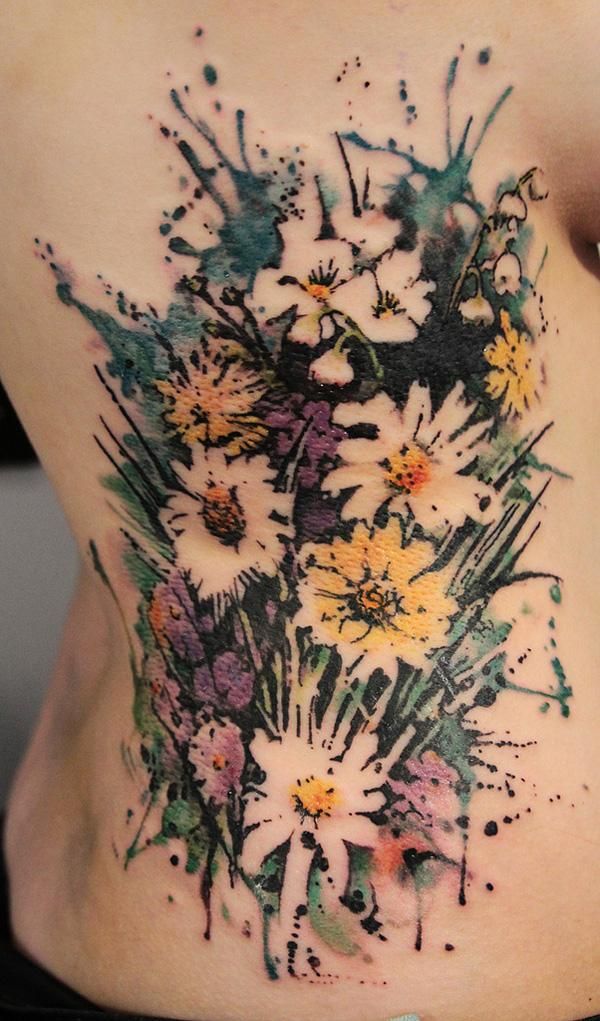 731c0d17add09 Flower watercolor tattoo - 65+ Examples of Watercolor Tattoo <3 <3 ...