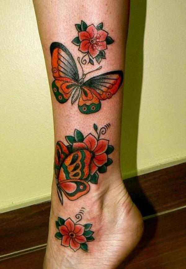 butterfly tattoos on leg with names. Black Bedroom Furniture Sets. Home Design Ideas