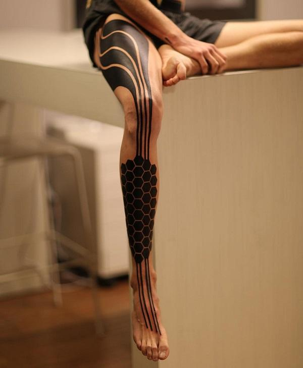 Cool leg tattoo