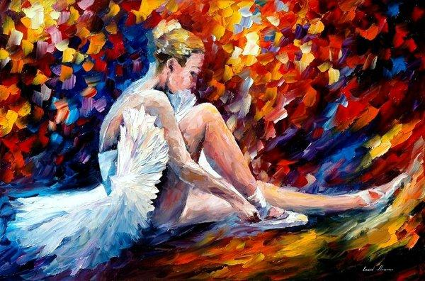 young ballerina l afremov by amazing paintings by leonid afremov