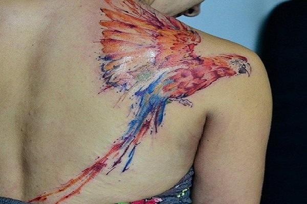 b6e9c1e748b9e Watercolor macaw tattoo. Watercolor feather idea - 65+ Examples of Watercolor  Tattoo <3 ...