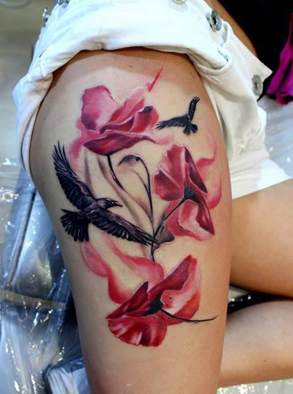 thigh tattoo for women tattoos art