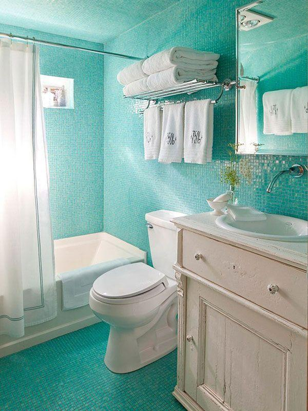 New A multitude of small tiles a traditional bathroom