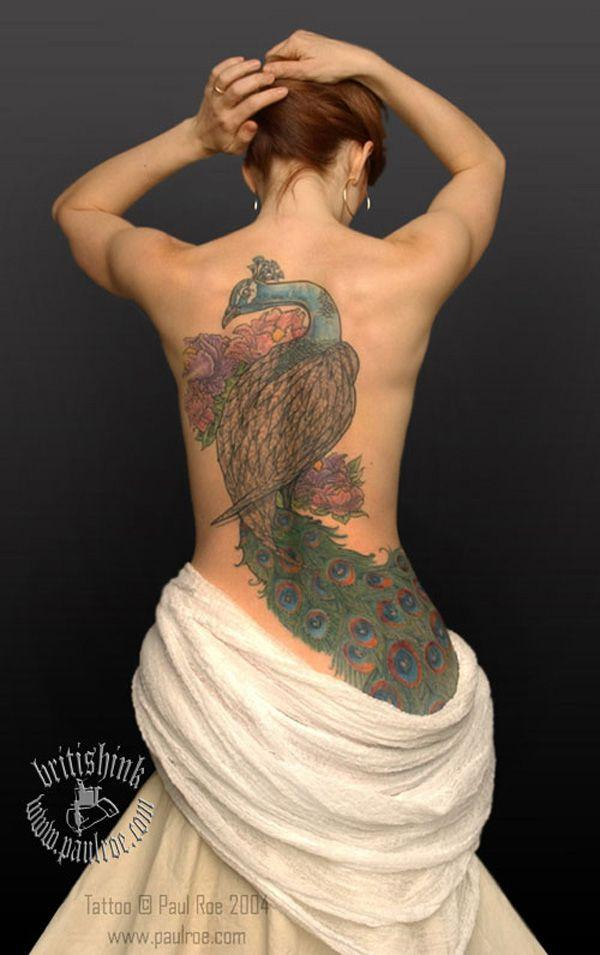 1c836fbedc1c0 Peacock tattoo for women - 65+ Tattoos for Women <3 <3 ...