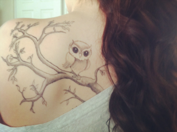 55 Awesome Owl Tattoos | Art and Design Owl Sleeve Tattoos For Girls