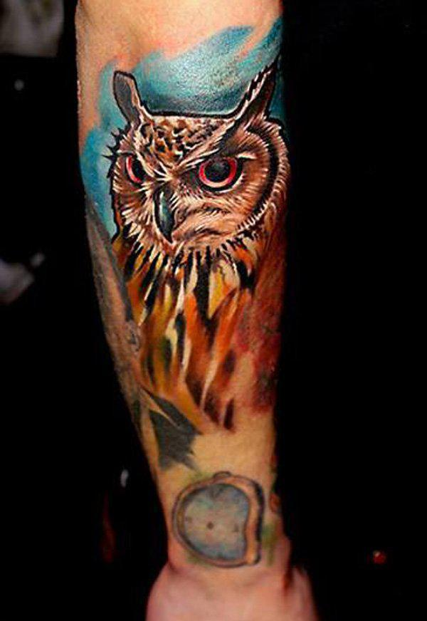 Owl Tattoo Arm Men