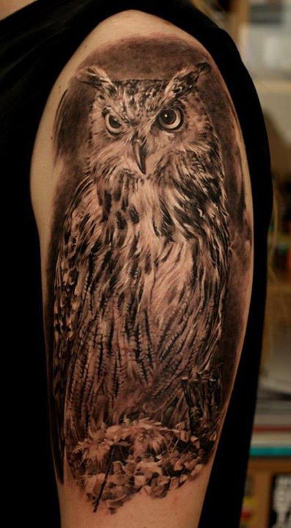 55 Awesome Owl Tattoos | Art and Design