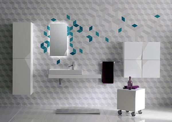 small tiles a traditional bathroom cold leaves floating on a white ocean - Bathroom Tile Ideas Design
