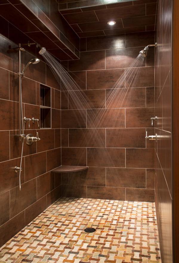 65+ Bathroom Tile Ideas | Art and Design on earth tone bathroom ideas, l-shaped bathroom vanity design, modern bathroom design, small master bedroom bathroom design, bathroom vanity tiles ideas design,