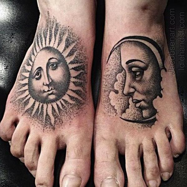 50 Examples of Moon Tattoos | Art and Design