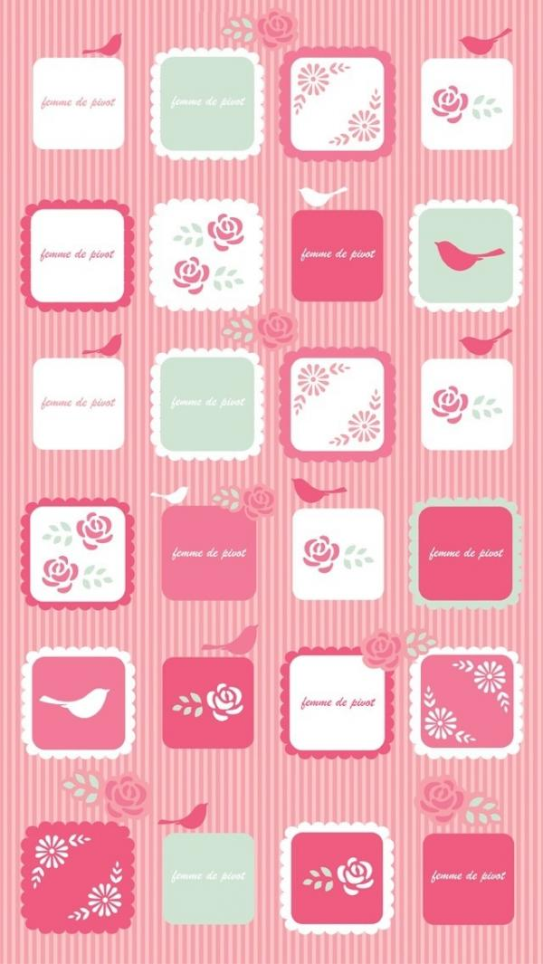 pink icons iphone 5 wallpaper - 50+ Examples of iPhone 5 wallpaper <3 ...
