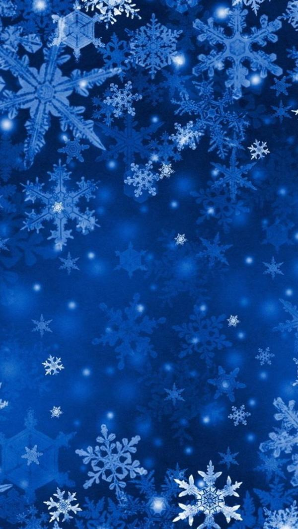 Blue Snowflakes IPhone 5 Wallpapers