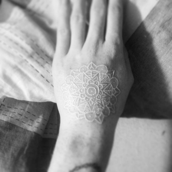 60+ Ideas for White Ink Tattoos 2015