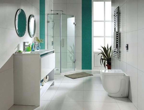 Luxury A modern white bathroom