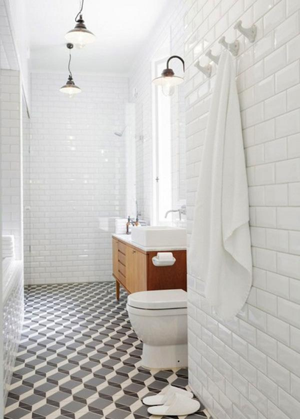Lovely A D version of classic bathroom