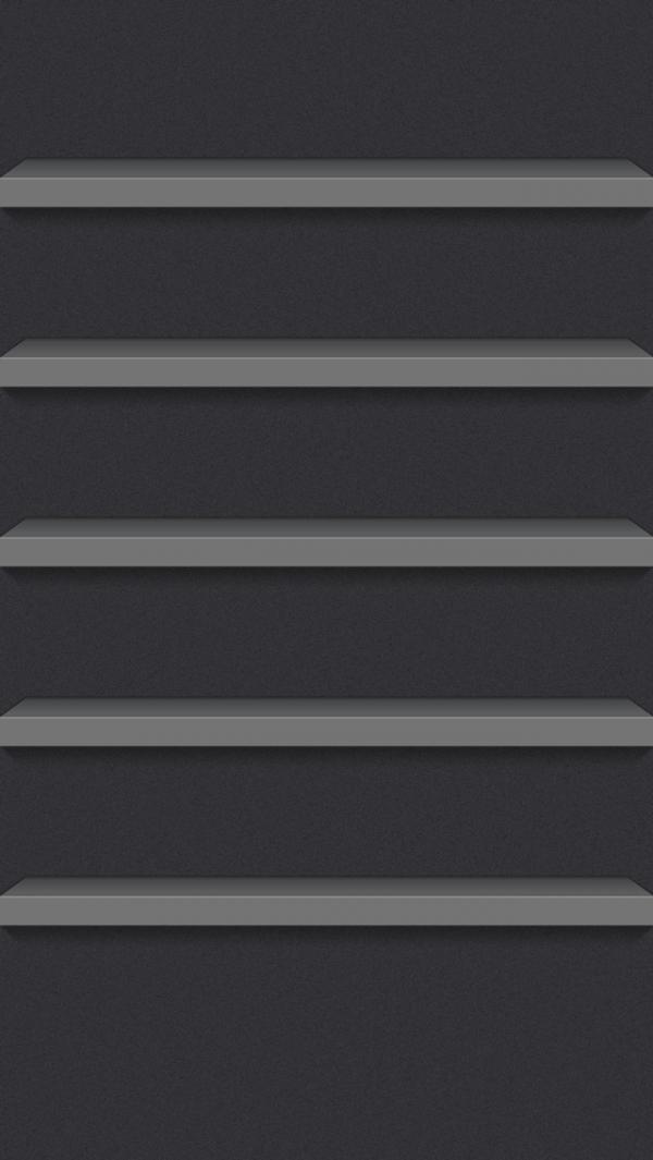 Shelf Wallpaper For IPhone IOS7 Dark Theme