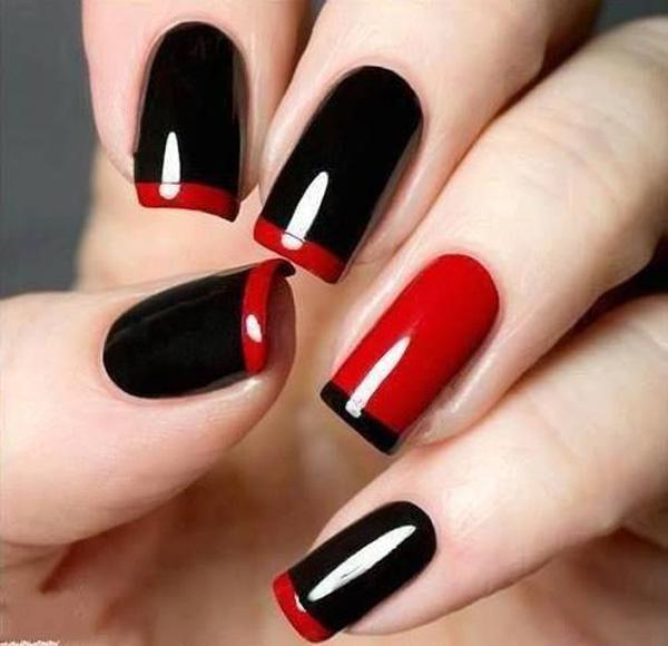Black and red nails - 35 Unique Nail Designs <3 <3 ... - 35 Unique Nail Designs Art And Design