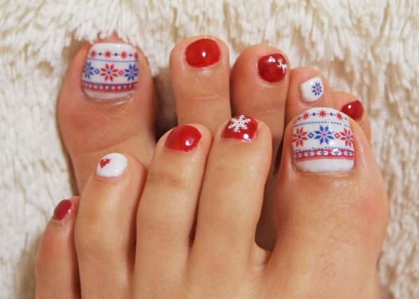 Christmas toe nails - 30+ Toe Nail Designs Art And Design
